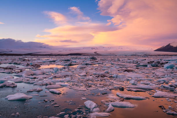 Icebergs floating on the beach Iceland Icebergs floating on the beach Iceland jokulsarlon stock pictures, royalty-free photos & images