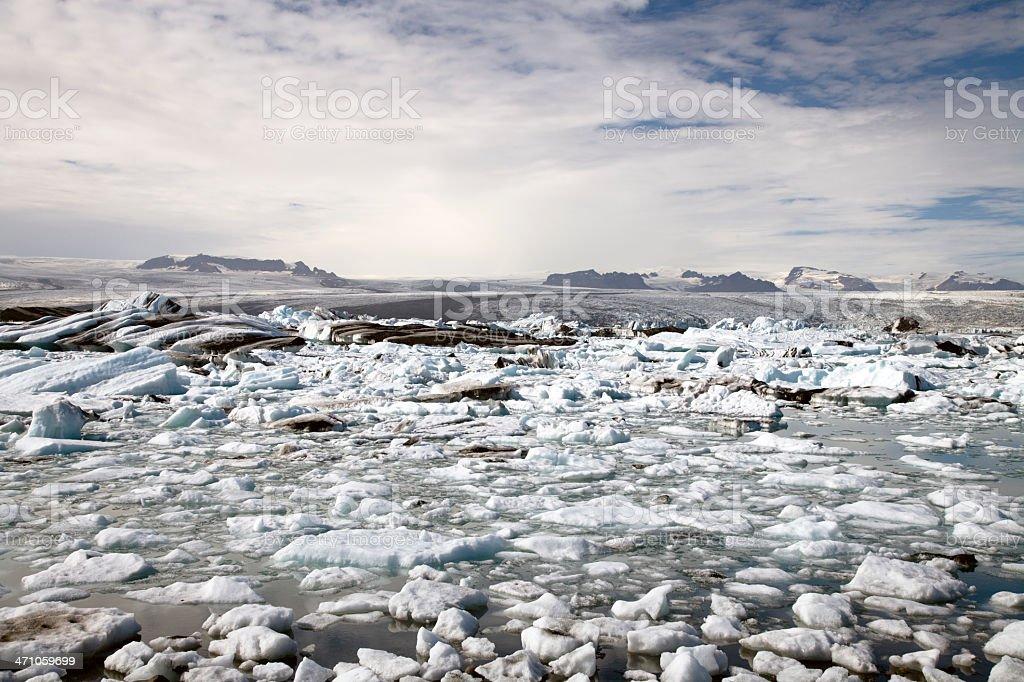 Icebergs Iceland Glacier Series - 07 royalty-free stock photo