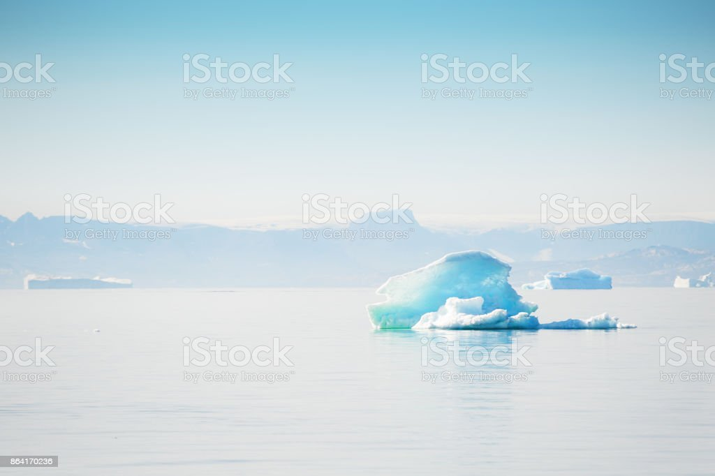 Icebergs in Greenland royalty-free stock photo