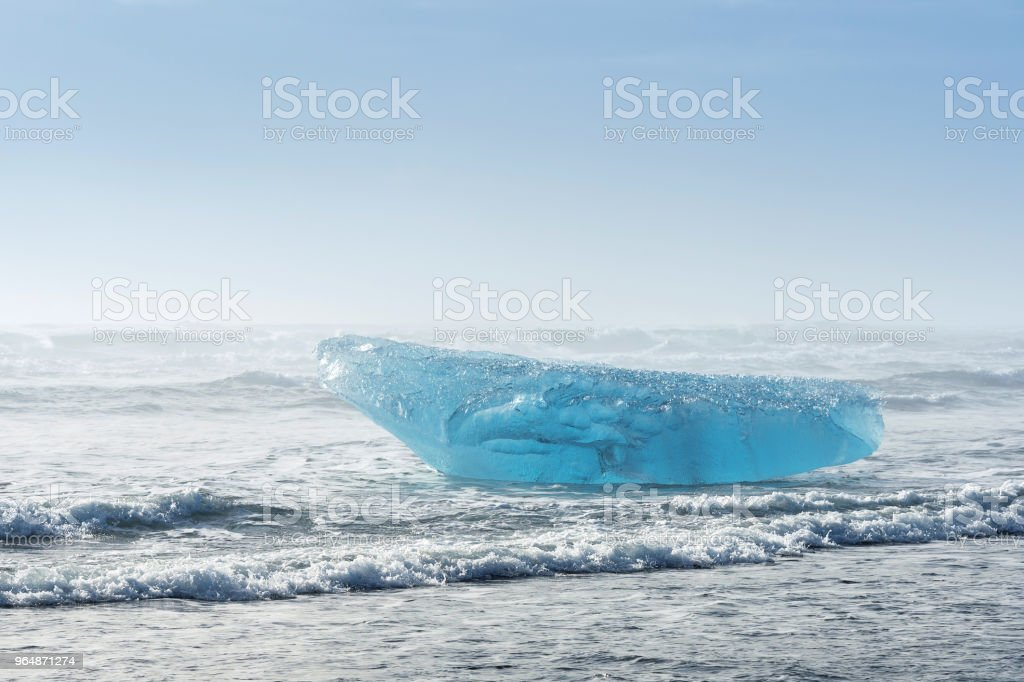 Icebergs in Jokulsarlon glacial lake, Iceland. royalty-free stock photo