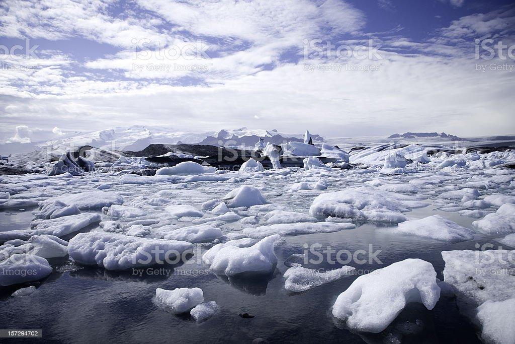Icebergs in Jokulsarlon Iceland royalty-free stock photo