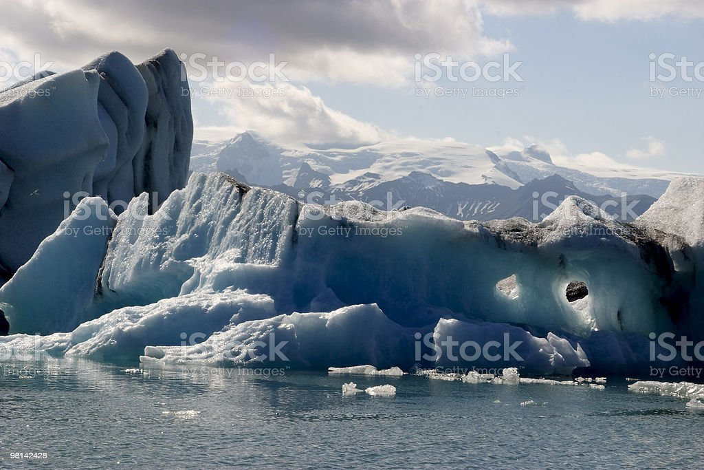 Icebergs in Jokulsarlon Lagoon royalty-free stock photo