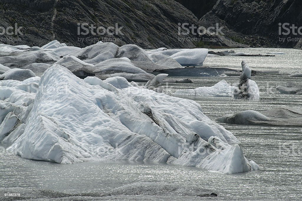 Icebergs in the lake royalty-free stock photo