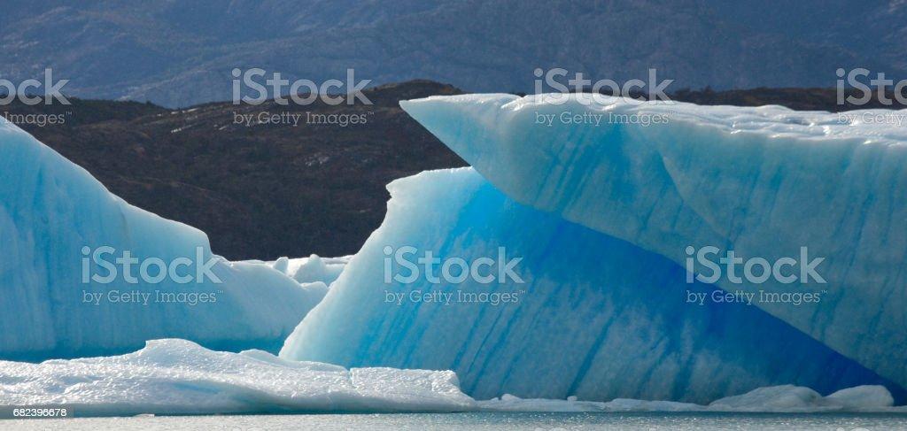 Icebergs in the water, the glacier Perito Moreno. royalty-free stock photo
