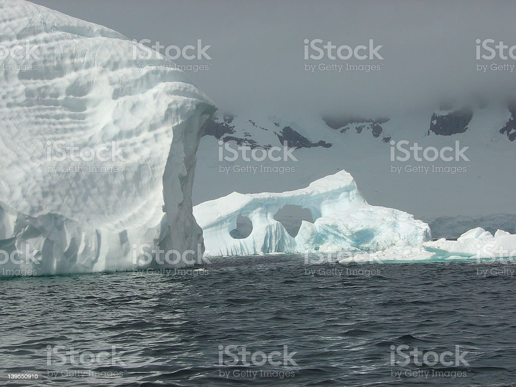 Icebergs Shimmering royalty-free stock photo