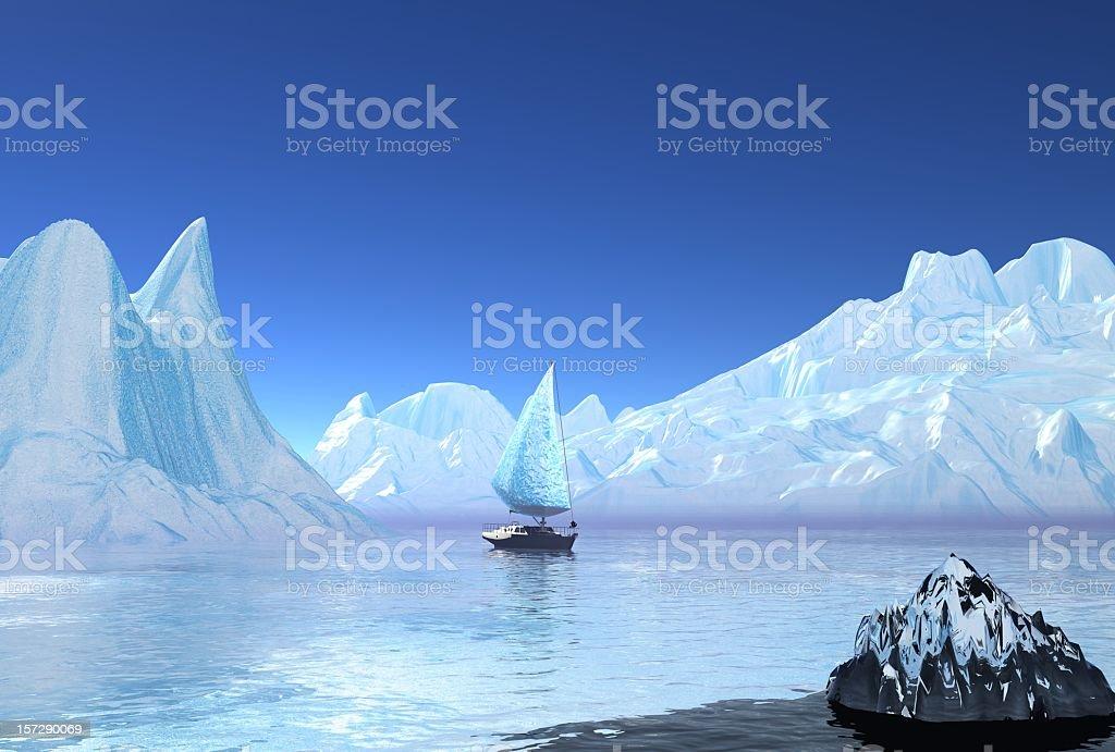iceboat stock photo