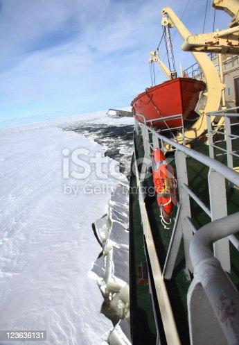 istock icebreaker in pack ice polar environment 123636131