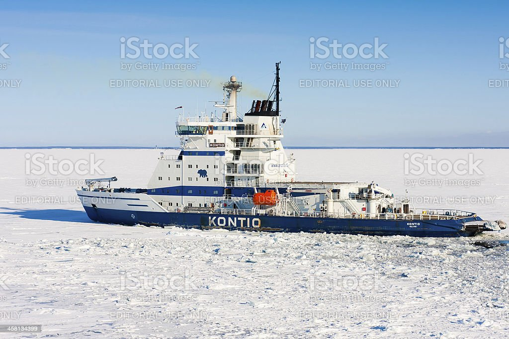 Icebreaker Kontio royalty-free stock photo