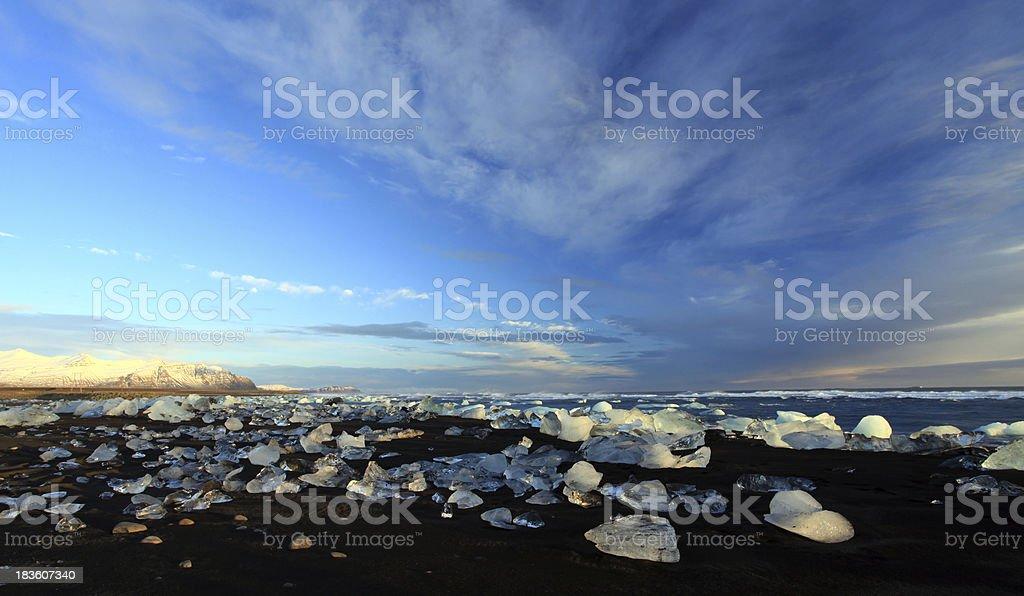 Iceburg Sunset stock photo