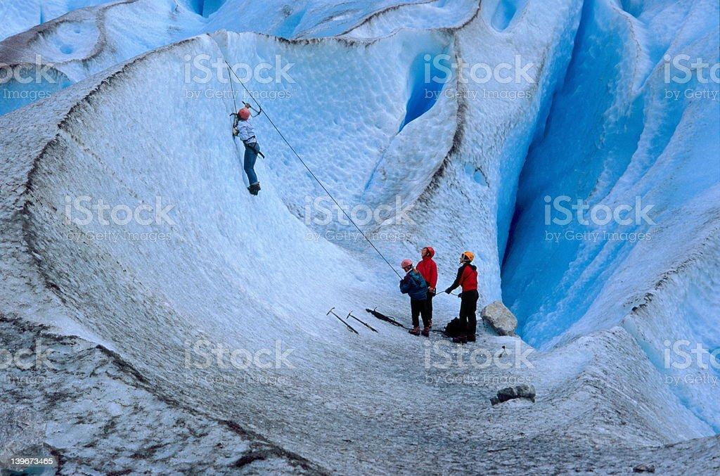 Ice-climbing royalty-free stock photo