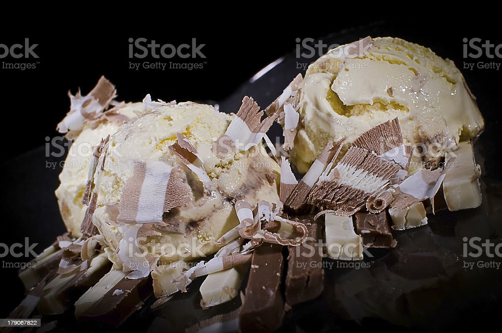 Icecream and chocolate royalty-free stock photo