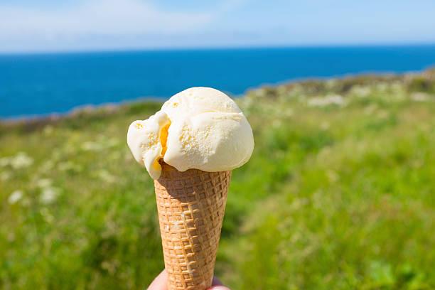 ice-cream cone - ice cream cone stock pictures, royalty-free photos & images