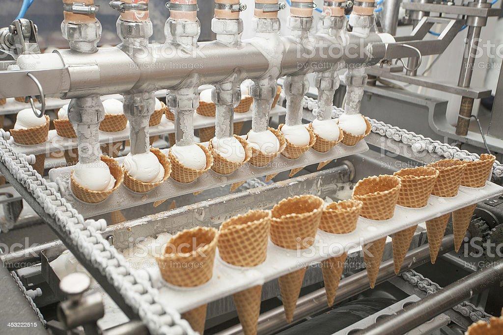 ice-cream on factory royalty-free stock photo
