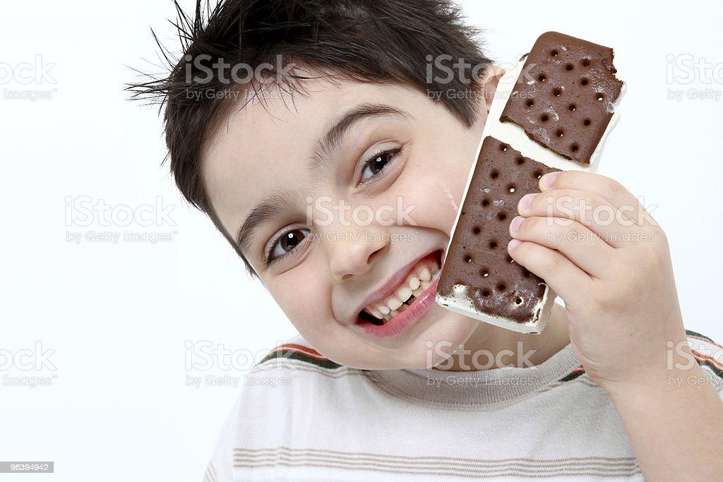 icecream Sandwich Boy - Royalty-free 6-7 Years Stock Photo