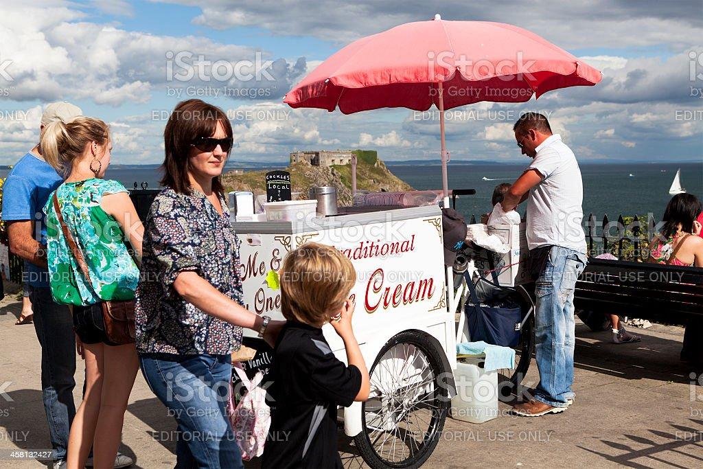 Icecream Vendor royalty-free stock photo