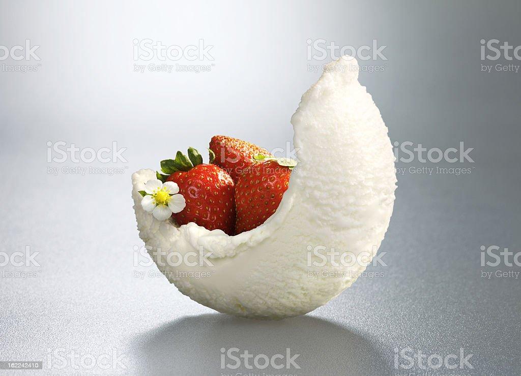 Ice-cream with decoration stock photo