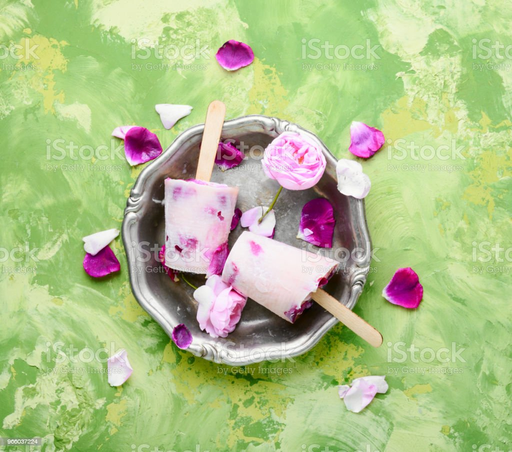 Ice-cream with taste of a tea rose - Royalty-free Blossom Stock Photo