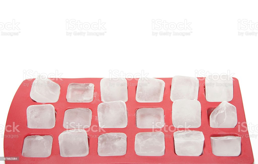 icecubes in a tray stock photo