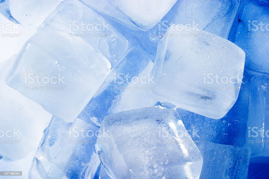 Icecubes with blue color cast to give extra cool feel royalty-free stock photo