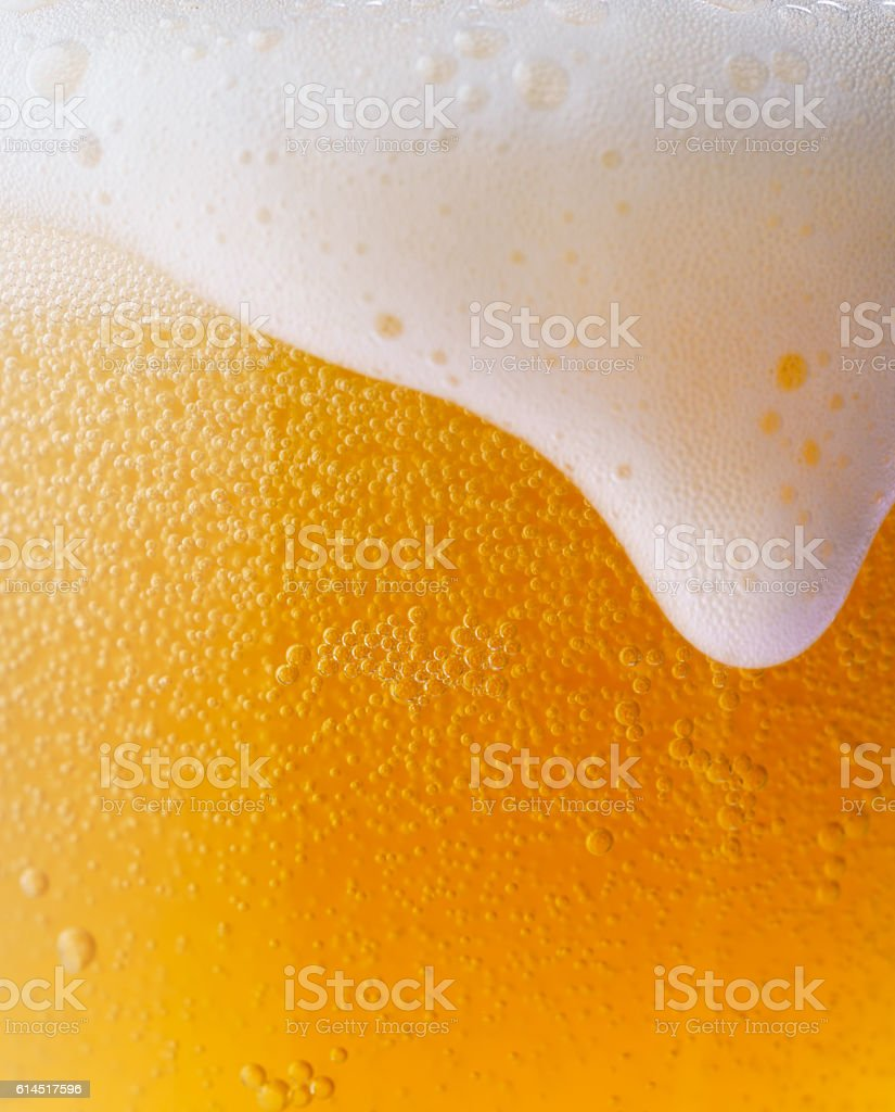 Iced beer stock photo