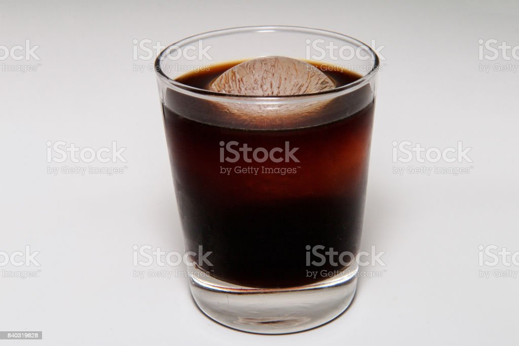 Iced Black Coffee stock photo