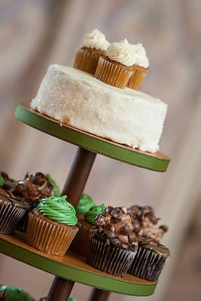 Iced Cakes stock photo