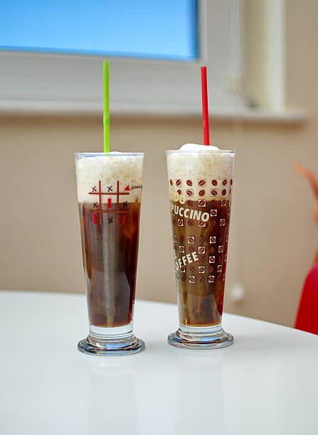 Iced cappuccino coffee stock photo