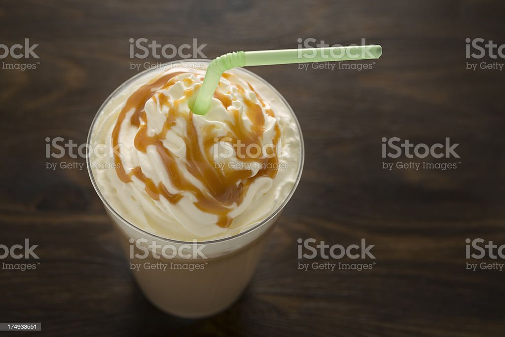 Iced Caramel Coffee stock photo