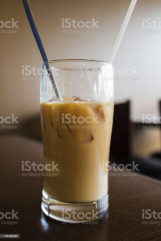 iced coffee at restaurant royalty-free stock photo