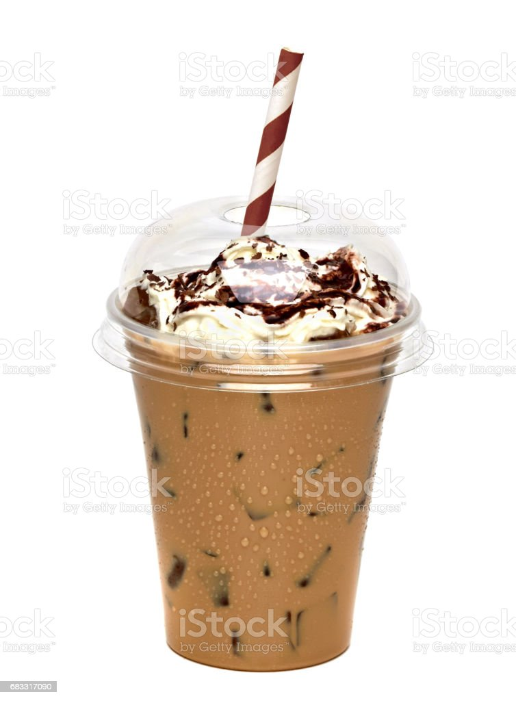 Iced coffee or caffe latte royalty-free stock photo