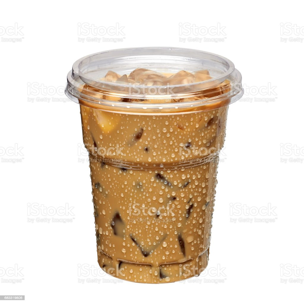 Iced coffee or caffe latte foto stock royalty-free