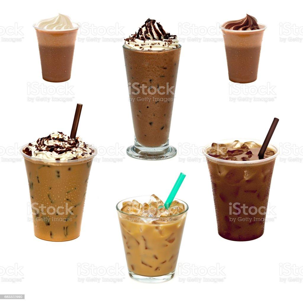 Iced coffee or caffe latte photo libre de droits
