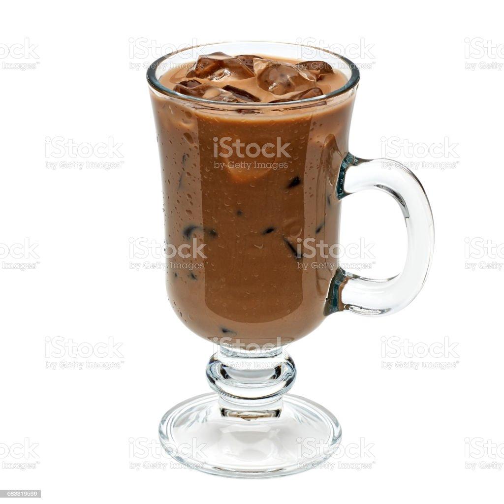 Iced coffee or mocha in irish coffee glass royalty-free stock photo