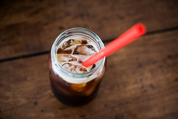 iced coffee - iced coffee stock photos and pictures