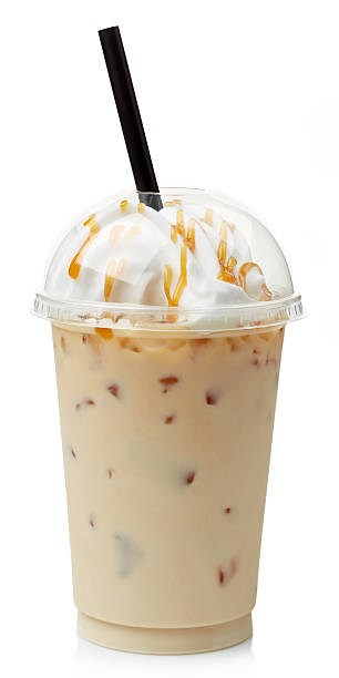 Iced coffee stock photo