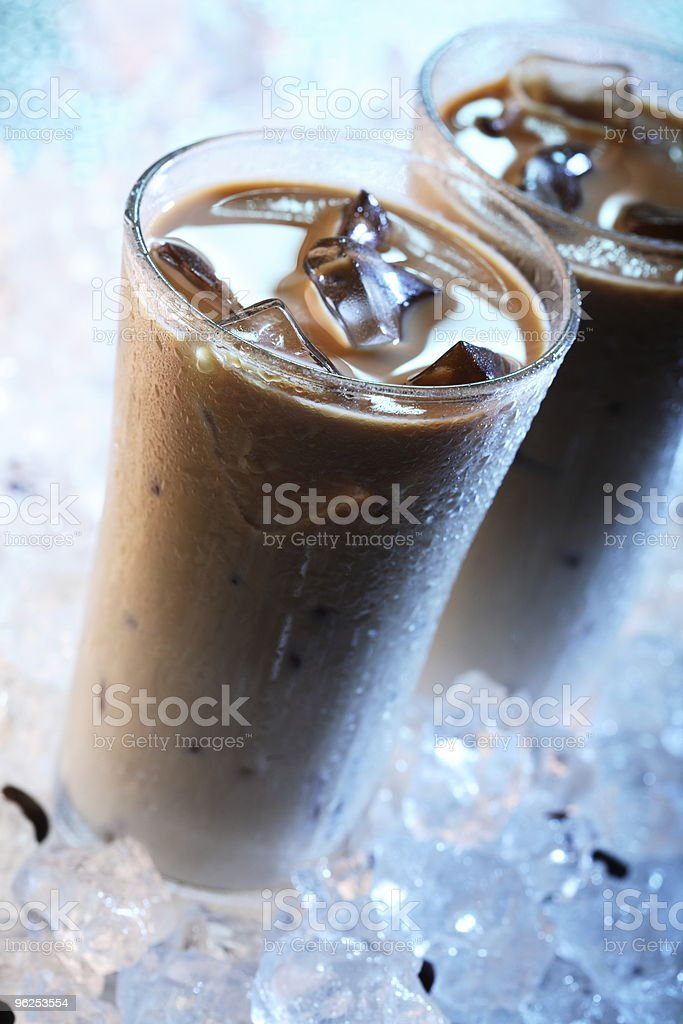 Iced Coffee - Royalty-free Blue Stock Photo