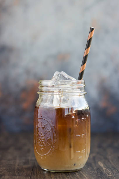 Iced Coffee with a Stripped Straw
