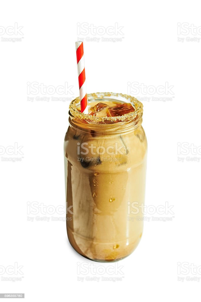 iced coffee with milk royalty-free stock photo