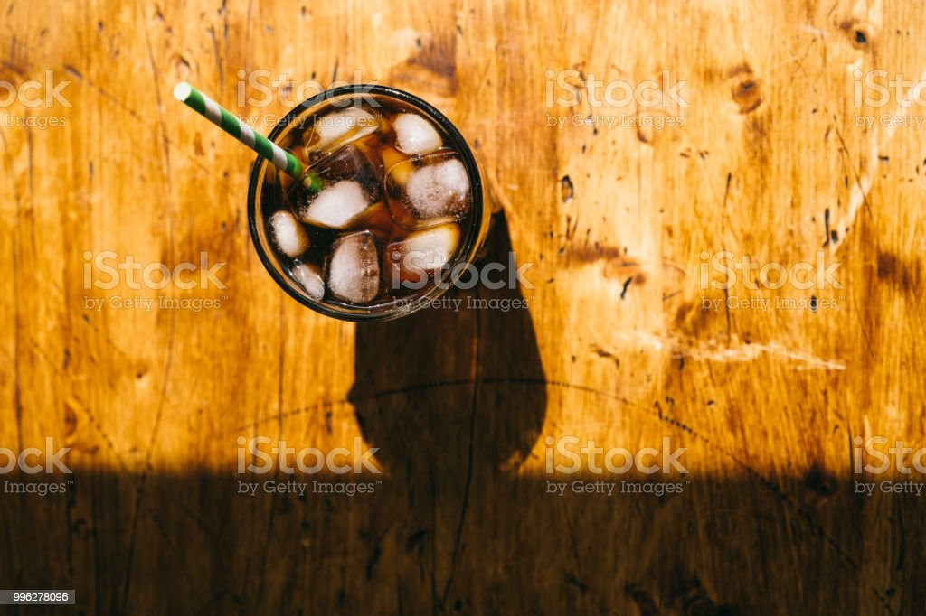Iced Cold brew coffee stock photo
