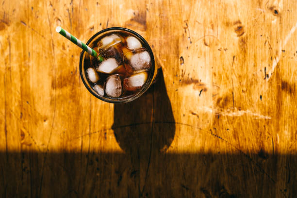 iced cold brew coffee - iced coffee stock pictures, royalty-free photos & images