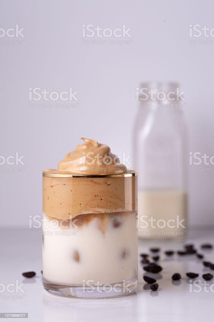 Iced Dalgona Coffee Stock Photo - Download Image Now - iStock