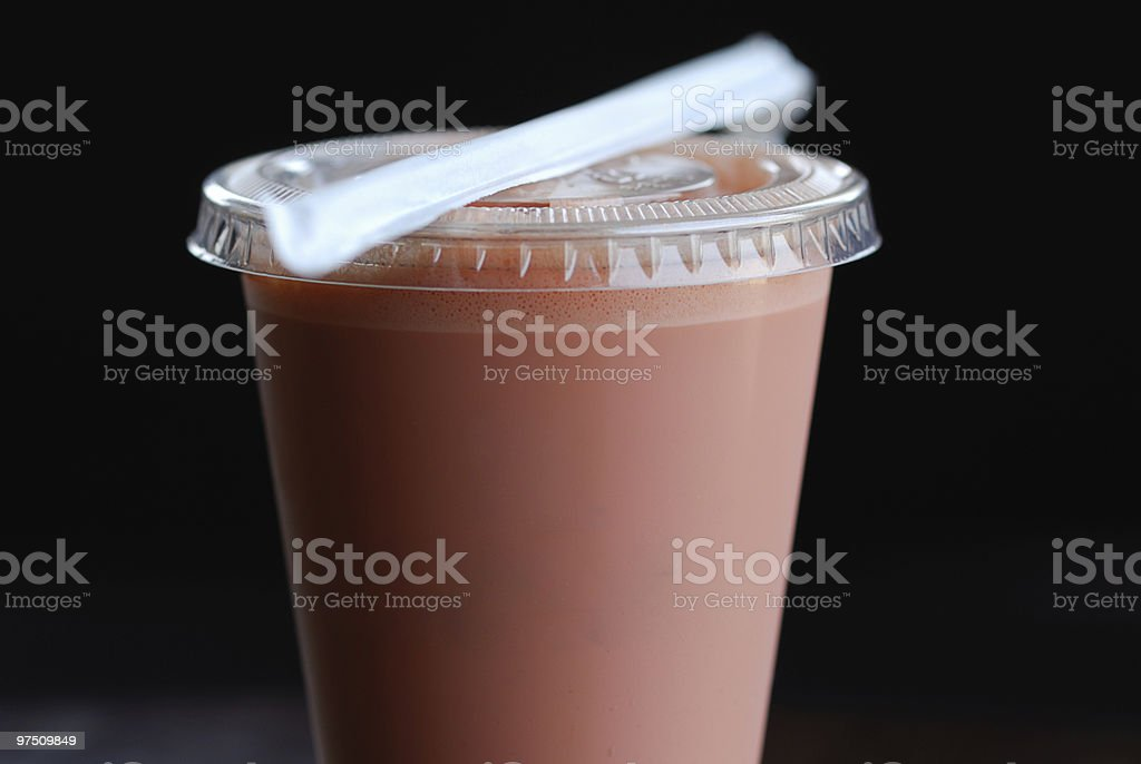 Iced Espresso with Raspberry royalty-free stock photo