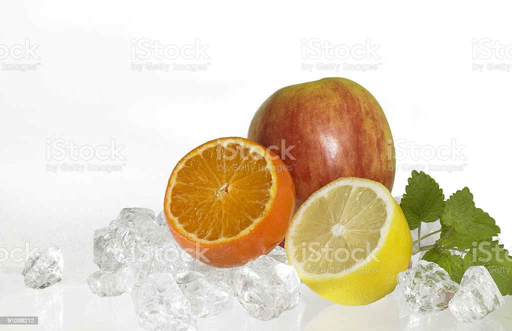 iced fruits royalty-free stock photo