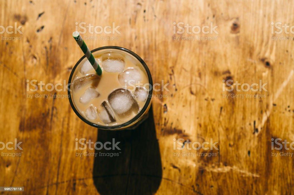 Iced Latte Coffee. stock photo