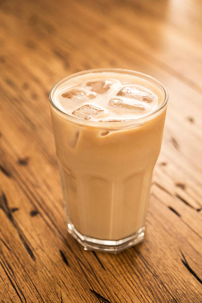iced latte - iced coffee stock pictures, royalty-free photos & images