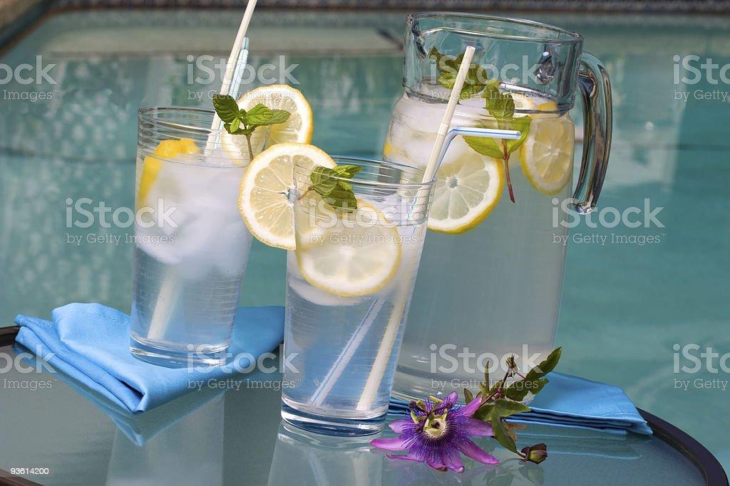 Iced lemonade royalty-free stock photo
