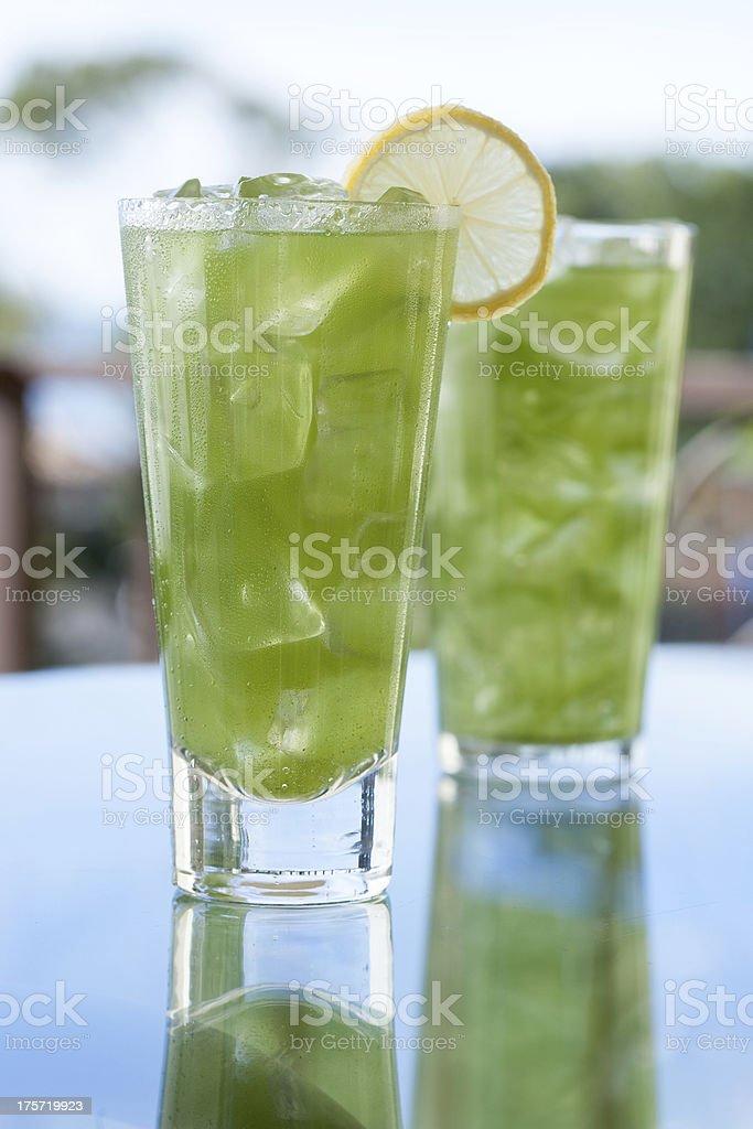 Iced Macha Tea royalty-free stock photo