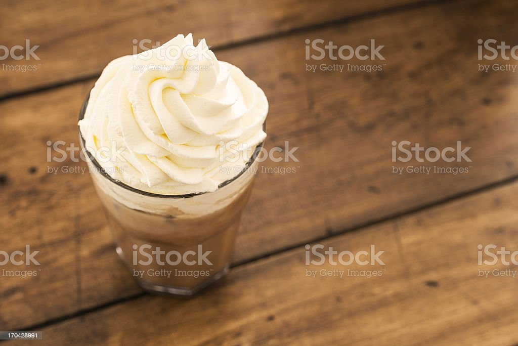 Iced Mocha topped with Whipped Cream stock photo