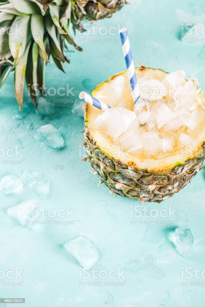 Iced pineapple cocktail royalty-free stock photo