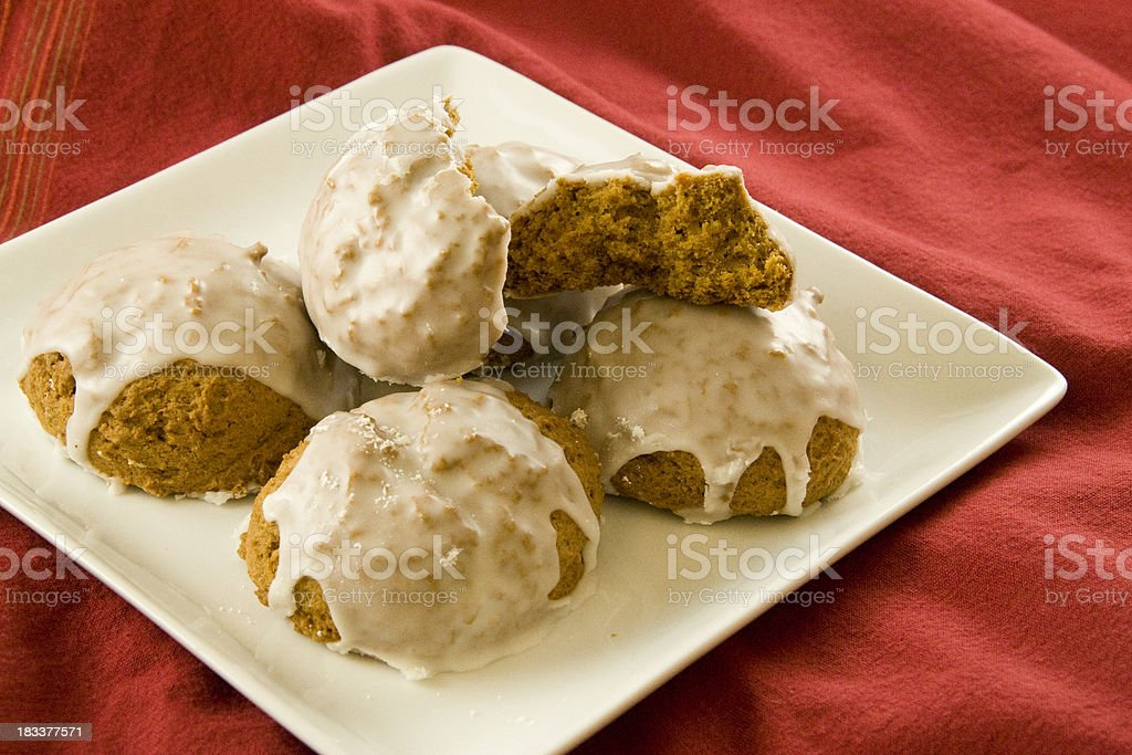 Iced Pumpkin Cookies royalty-free stock photo